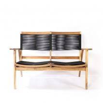 Bộ sofa đan dây Kingmens gỗ keo lau dầu 2