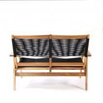 Bộ sofa đan dây Kingmens gỗ keo lau dầu 3