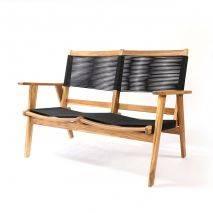 Bộ sofa đan dây Kingmens gỗ keo lau dầu 4