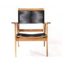 Bộ sofa đan dây Kingmens gỗ keo lau dầu 6