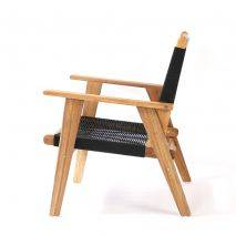 Bộ sofa đan dây Kingmens gỗ keo lau dầu 8