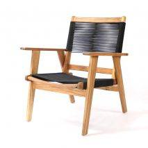 Bộ sofa đan dây Kingmens gỗ keo lau dầu 9