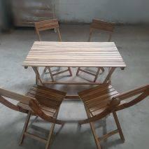 Bộ bàn xếp Leti Islands gỗ keo 3