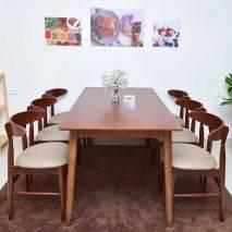 Bộ bàn ăn 6 ghế Suwon màu nâu