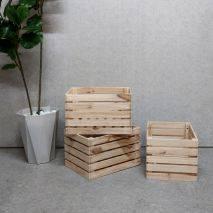 Combo 3 hộp gỗ vuông Forest để đồ