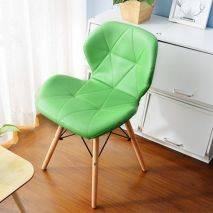 Ghế Radar chân gỗ đan màu xanh lá