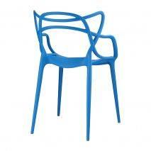 Ghế Master chân nhựa đúc màu xanh