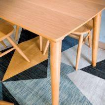 Bộ bàn ăn 4 ghế Windsor màu tự nhiên