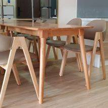 Bộ bàn ăn 6 ghế Emma màu tự nhiên