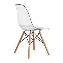 Ghế Eames lưng trong chân gỗ đan