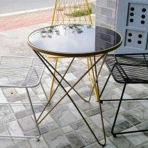 Bàn café Rimini viền sắt tròn