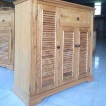 Tủ giầy Victoria 3 cánh lá sách gỗ sồi