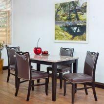 Bộ bàn ăn Cecil 4 ghế Ivy