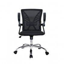 Ghế xoay ID534 tay quắc màu đen