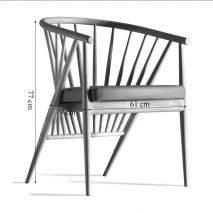 Bộ bàn tròn Como 2-4 ghế Genny