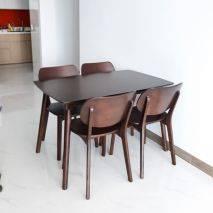 Bộ bàn ăn 4-6-8 ghế Venus tựa gỗ