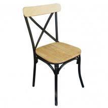 Bộ bàn Clara 2 ghế Bistro mặt gỗBộ bàn Clara 2 ghế Bistro mặt gỗ