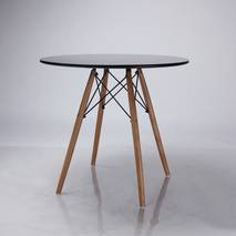 Bộ bàn tròn Eiffel đen 2 ghế