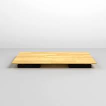Bộ bàn bệt Rec-B đen và ghế Pisu
