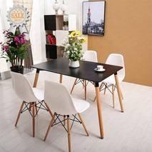 Bộ bàn Veron đen 4 ghế