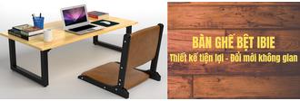 Bàn ghế bệt IBIE thiết kế tiện lợi