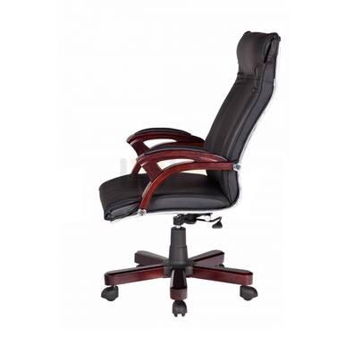 Hình nghiêng Ghế Giám đốc IB012 2 cần chân gỗ cao cấp màu đen