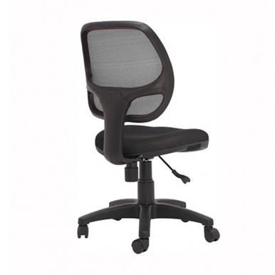 Hình nghiếng trái ghế lưới IB501 có tay màu đen