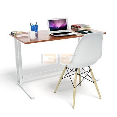 Bộ bàn Rec-U trắng màu cánh gián và ghế Eames chân gỗ trắng