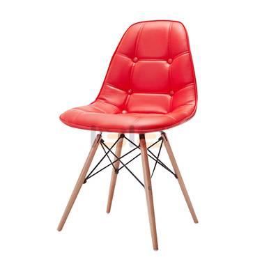 Ghế Eames bọc nệm chân gỗ nhiều màu