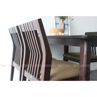 Bộ bàn ăn 4 ghế Cacao màu walnut