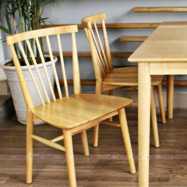 Bộ bàn ăn 4 ghế Dotori màu tự nhiên