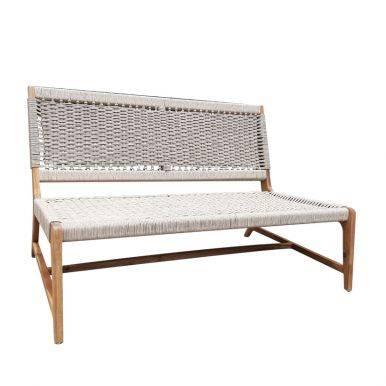 Bộ sofa ngoài trời Aveas gỗ keo đan dây 4