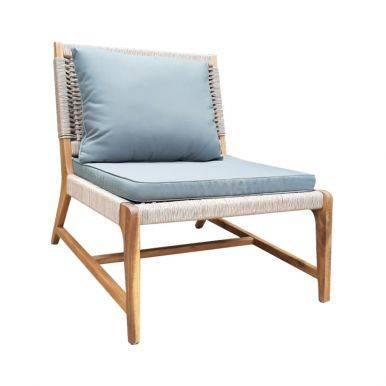 Bộ sofa ngoài trời Aveas gỗ keo đan dây 5