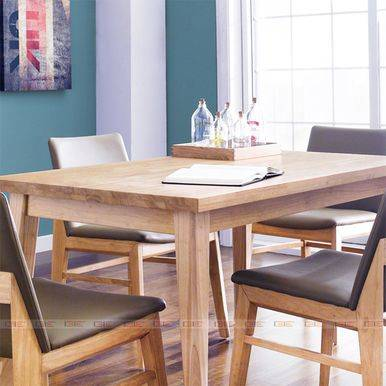 Bộ bàn ăn 4 ghế Zodax màu tự nhiên
