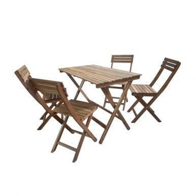 Bộ bàn xếp Leti Islands gỗ keo 2