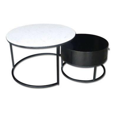Bàn trà Acerra 1 thanh đen