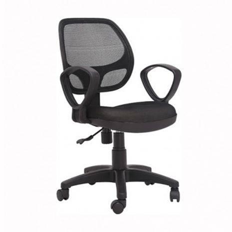 Ghế lưới IB501 có tay màu đen