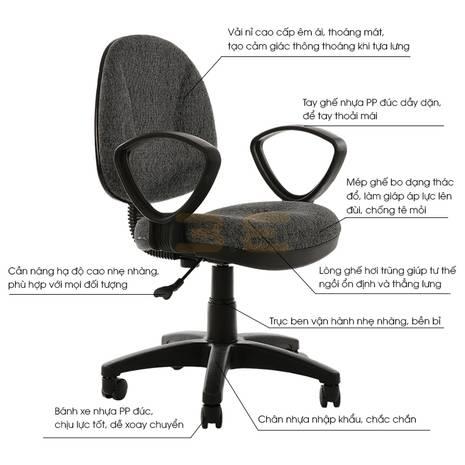 Bộ bàn Rec-U đen và ghế IB505