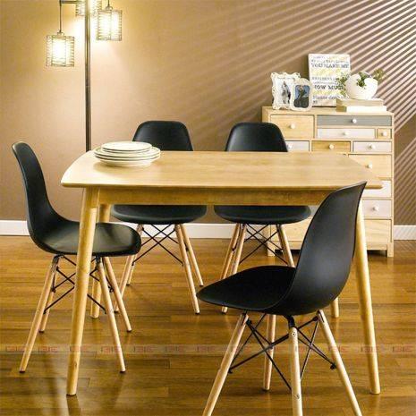 Bộ bàn ăn 4 ghế Sarah màu trắngBộ bàn ăn Sarah màu đen