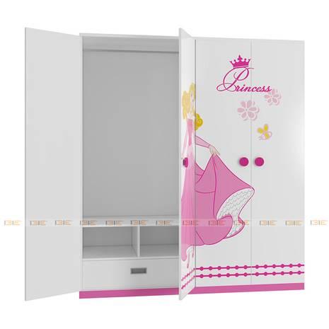 Tủ quần áo 4 cánh hình Công chúa 1m6