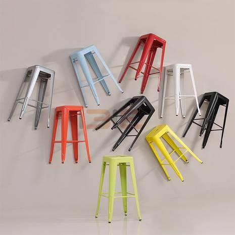 Ghế bar Tolix chân cao nhiều màu
