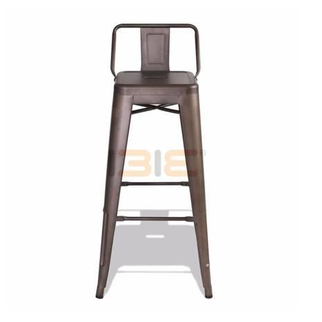 Ghế bar Tolix lưng thấp nhiều màu