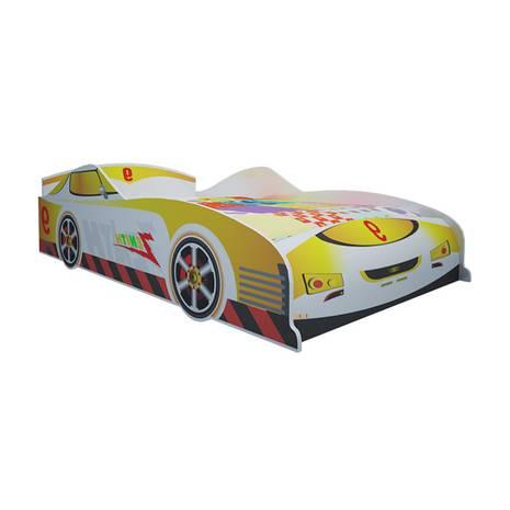 Giường ô tô màu vàng 1m2