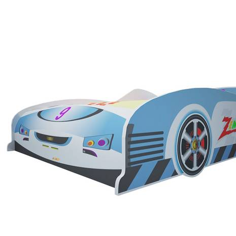 Giường ô tô màu xanh 1m2