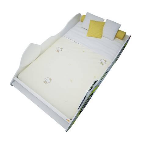Giường mô tô màu vàng 1m2