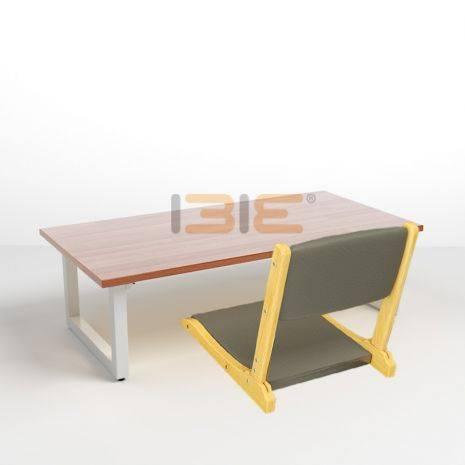 Bộ bàn bệt Rec-B trắng và ghế Pisu