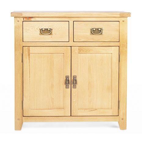Tủ chén thấp 2 cánh 2 ngăn Rustic gỗ sồi