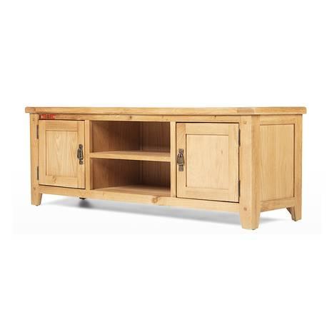 Tủ TV 2 cánh Rustic gỗ sồi