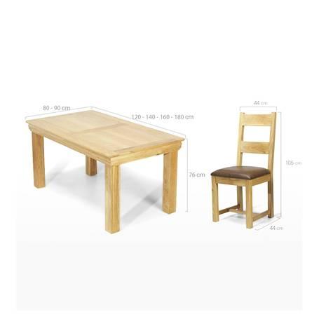 Bộ bàn ăn 4 ghế Victoria gỗ sồi