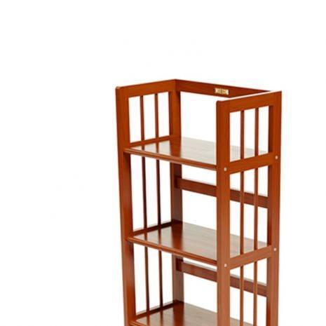Kệ sách 5 tầng HB540 gỗ cao su màu cánh gián